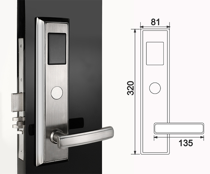 High Security Electronic Lock for Hotel Stainless Steel House and Office Sensor Lock