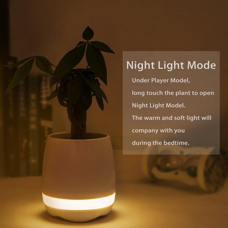 Cheap Creative Mini Bluetooth Smart Music Flowerpot Speaker with Lighting