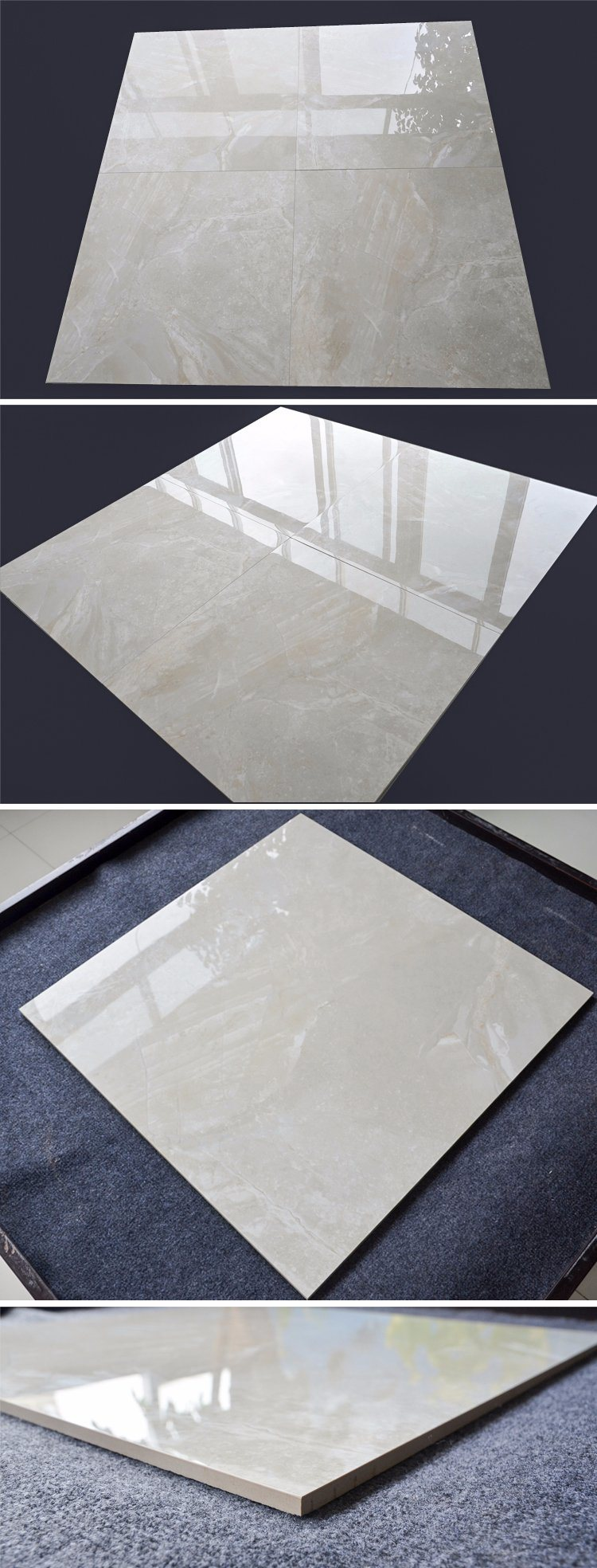Cheap Hot Sale Milan Vitrified Off White Ceramic Floor Tile China