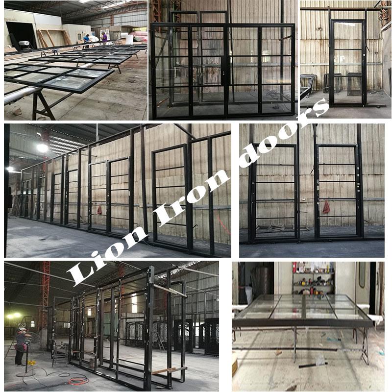 Uropean French Steel Doors Bifold Door With Tempered Glass China