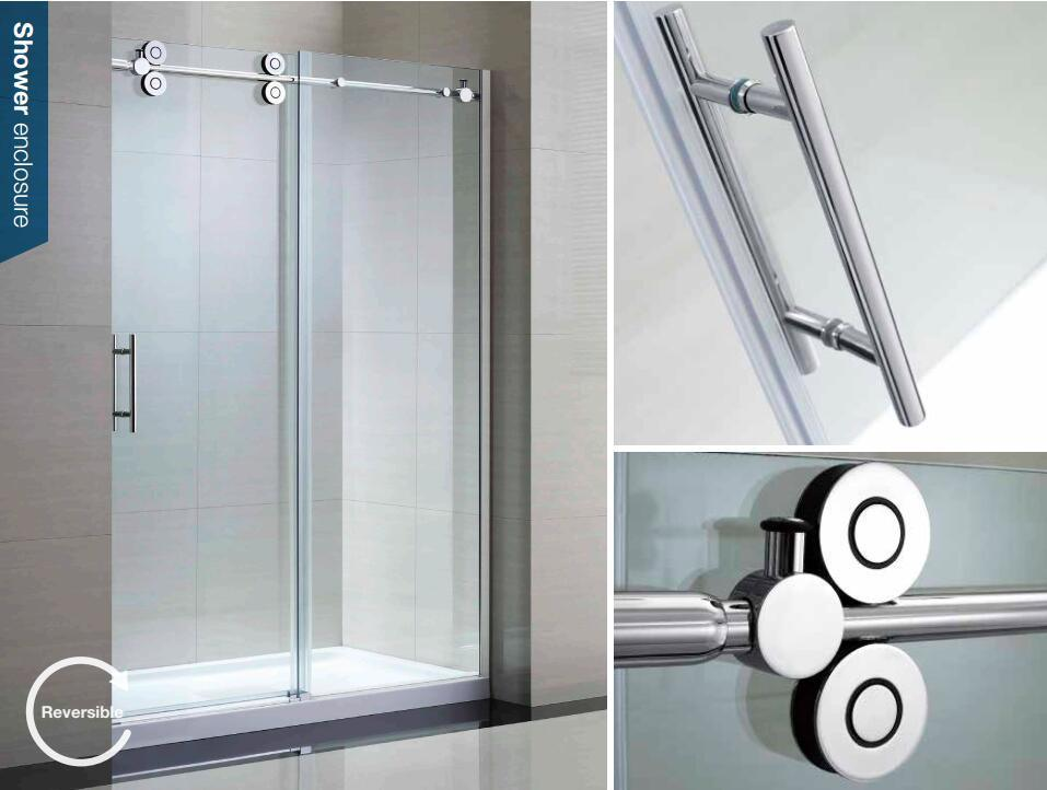 Stainless Steel Profile Frame Toughened Safety Glass Shower Doors