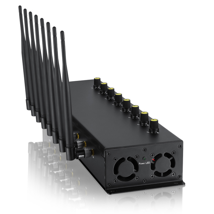 Cell phone jammer for classroom | 8 Antennas Cell Phone Jammer