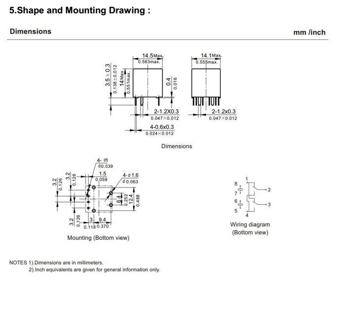 Wl8nd Miniature Automotive Relay 25a 14v Auto Parts Wl8nd