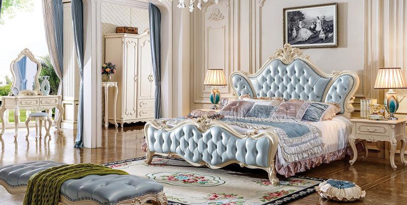 Madera de estilo clásico juego de dormitorio Muebles de dormitorio ...