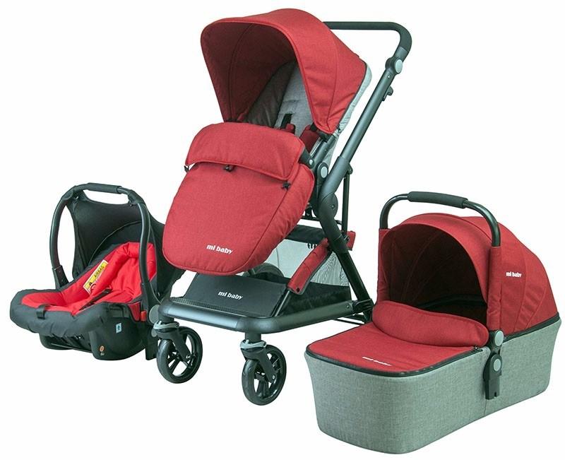 2017 Nuevo Diseño 3 en 1 Cochecito de bebé con Moisés y el asiento ...