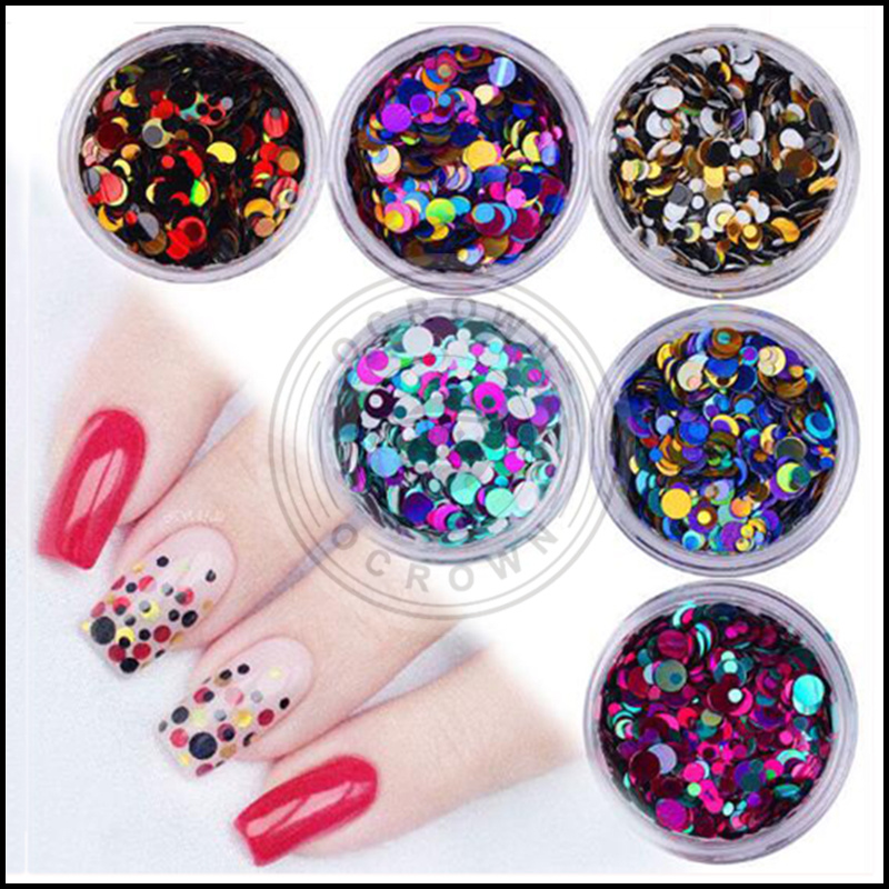 Camaleón estrellado decoración del salón de uñas multicolor de ...