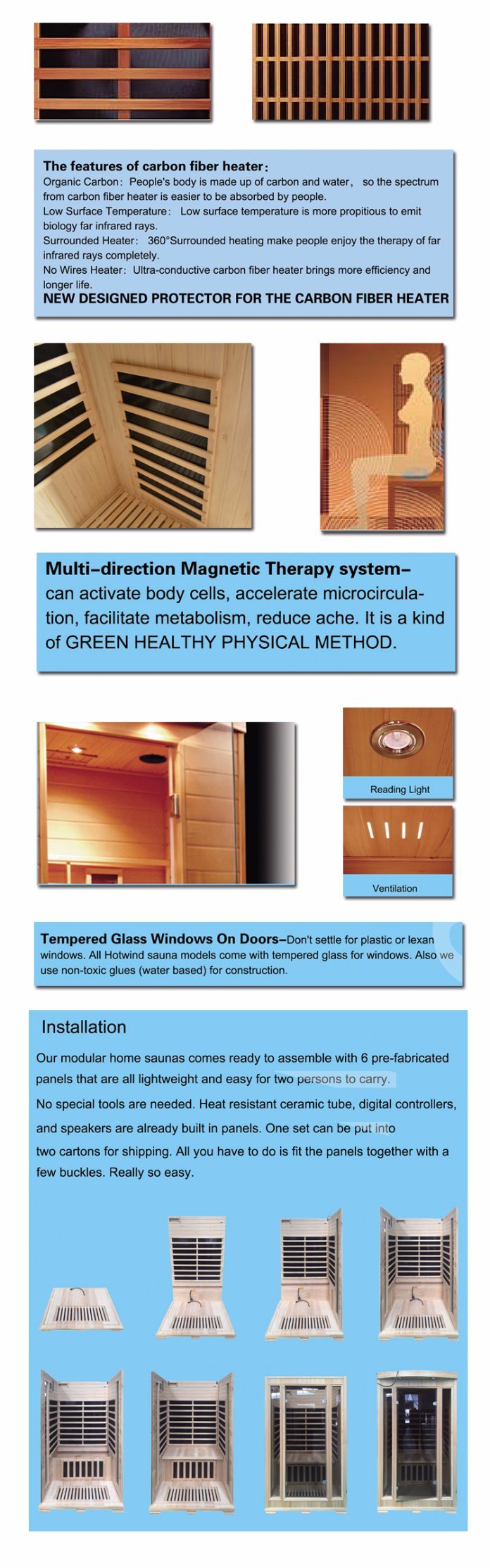 2018 Best Selling Factory Direct Price Infrared Sauna