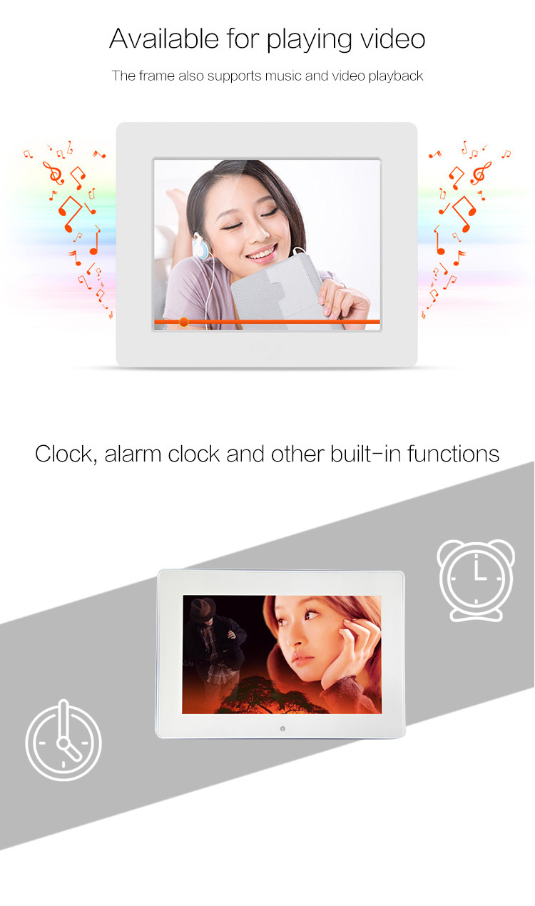2018 New 10 Inch Digital Picture Frame with Narrow Frame