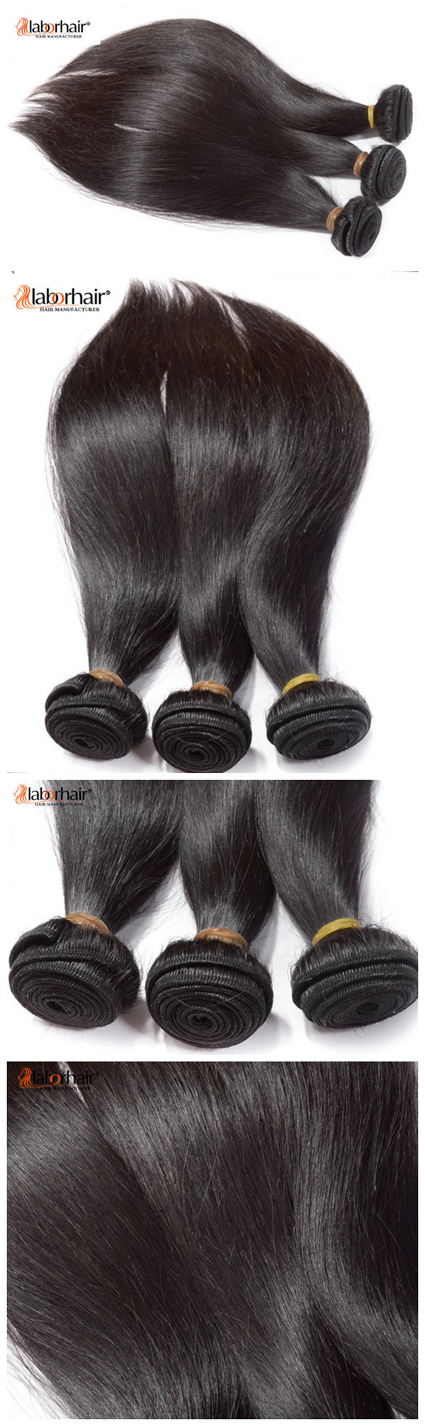 9A Natural Hair Weave 100% Brazilian Virgin Remy Human Hair Extension 2018 New Arrival Lbh 002