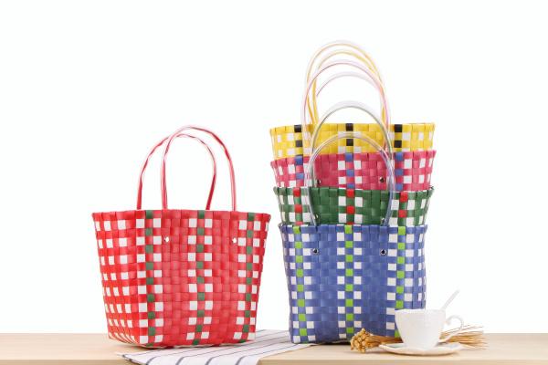 Bolso PP mano a Tiendas de de tejida Plástico bolsas de Proveedor HETnwYqZwx