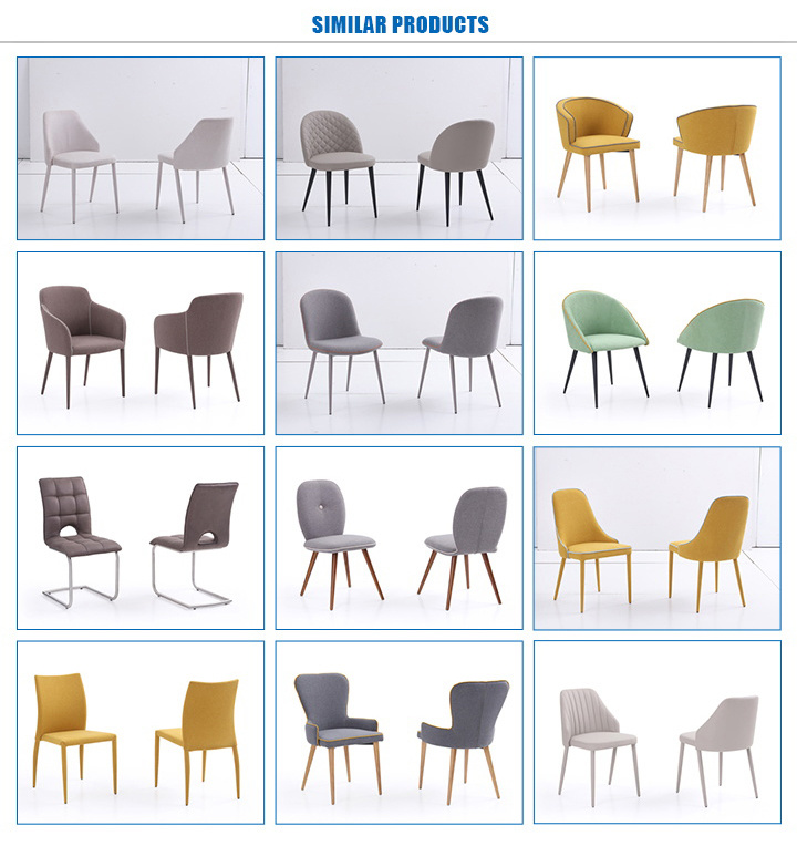 Factory PU Wood Dining Chair for Home