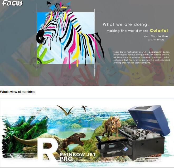 Rainbow-Jet A3 Impresión digital textil Camiseta máquina Impresora ...