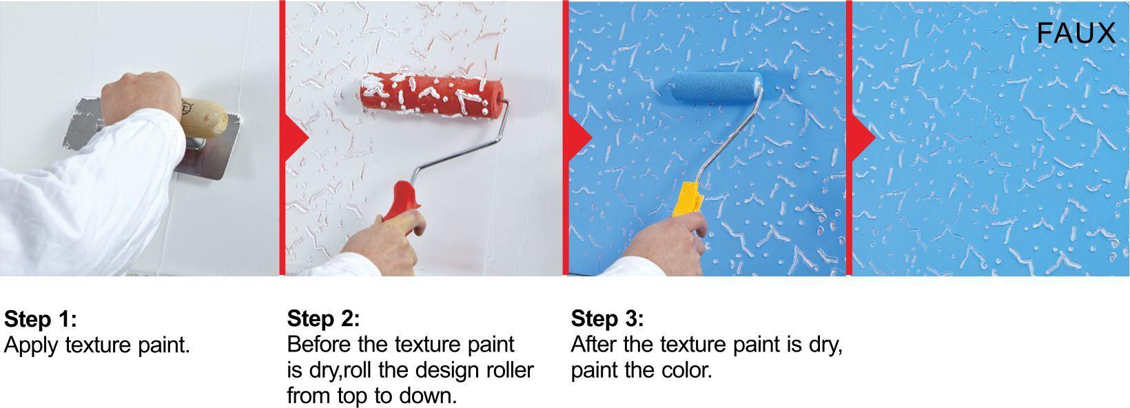 DIY Brush Tools Embossed Flower Pattern Decorative Paint