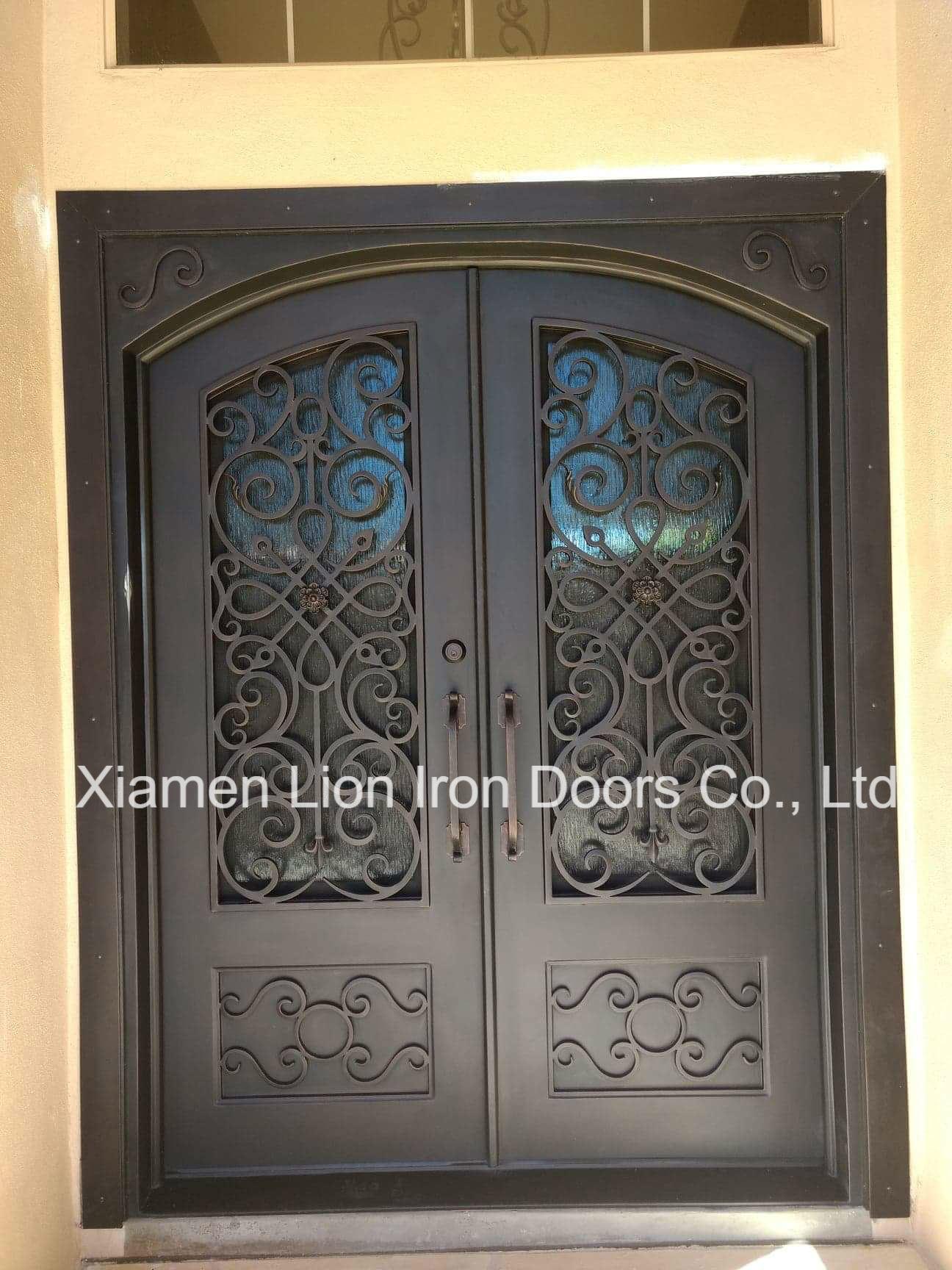 Modern Safety Exterior Door Wrought Iron Main Entrance Doors