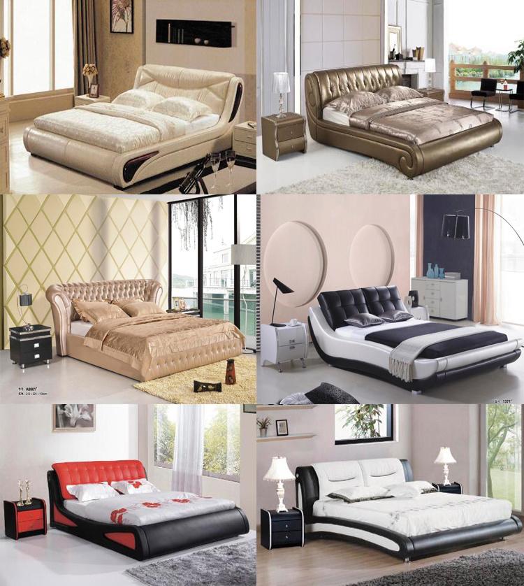 Cabecero de la ronda de cuero modernos muebles de dormitorio con ...