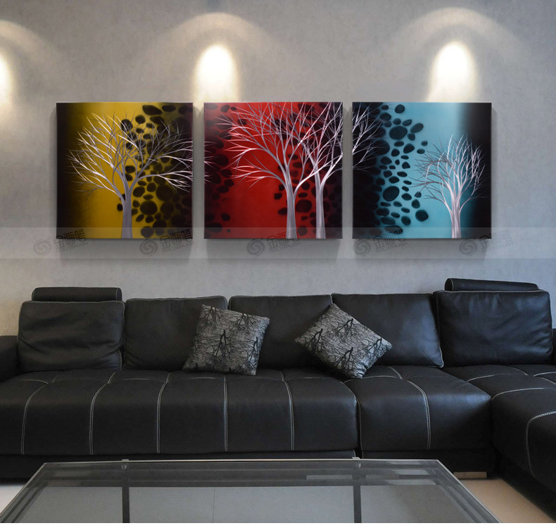 Tree Art Landscape Picture Modern Living Room Wall Paintings Gray Wall Decor Stretched On Aluminium 3d Metal Art Home Decor China Hanging Wall Arts And Decoration Price Made In China Com