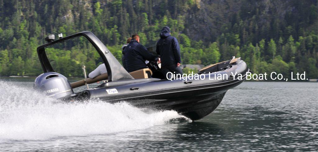 Liya 22feet Sport Rib Boat Fiberglass Rigid Inflatable Boat