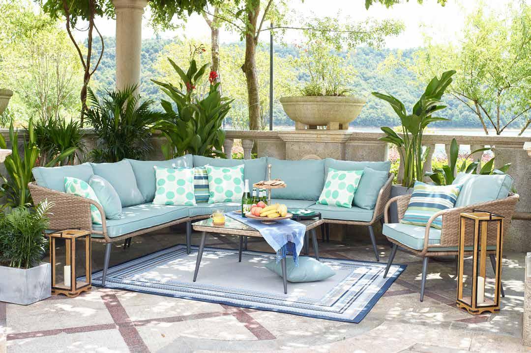 6 Pieces Outdoor Furniture Patio, Outdoor Conversation Furniture