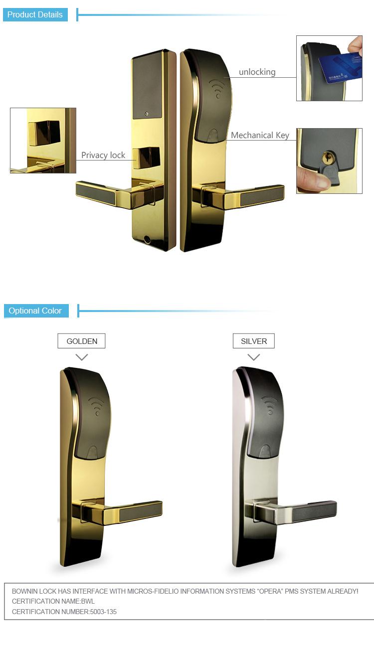 Bonwin Electronic Keyless Entry Hotel Door Lock Served for 500