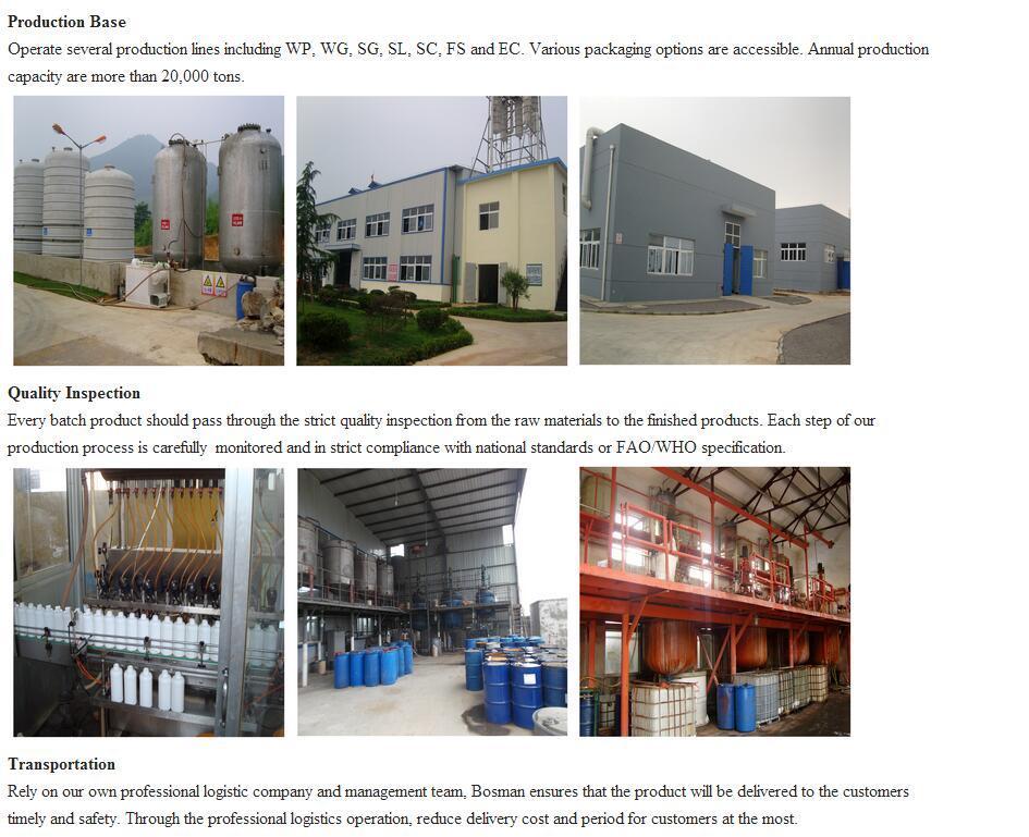 high quality Glyphosate 480g/L (IPA) SL Heribicide