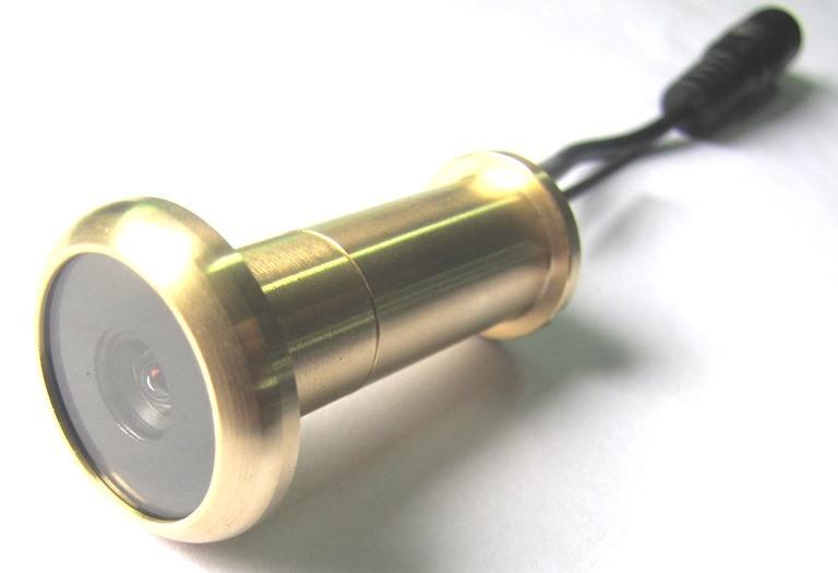Seguridad inal mbrica 5 8g cctv color mirilla ojo de la puerta de la c mara lat n puro material - Camara mirilla puerta wifi ...
