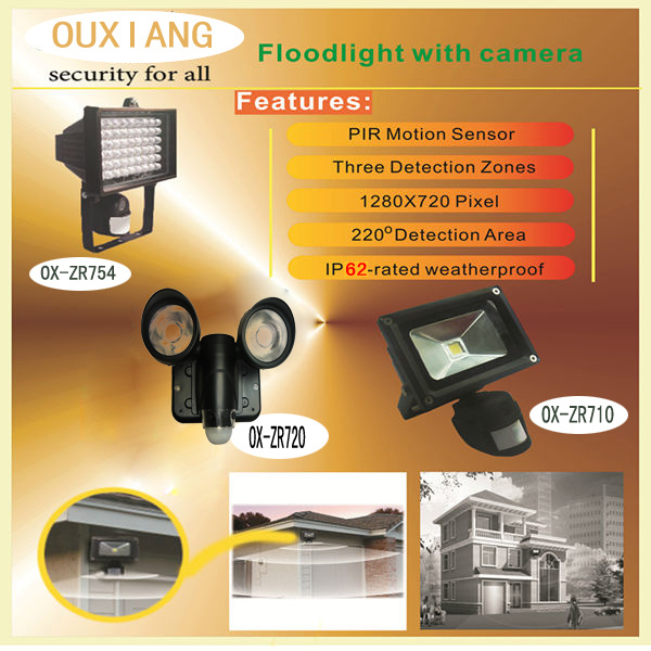 Wholesale Outdoor/Indoor Waterproof LED Floodlight Camera WiFi Motion  Activated Security Light Camera Zr710W Wireless CCTV Video Camera