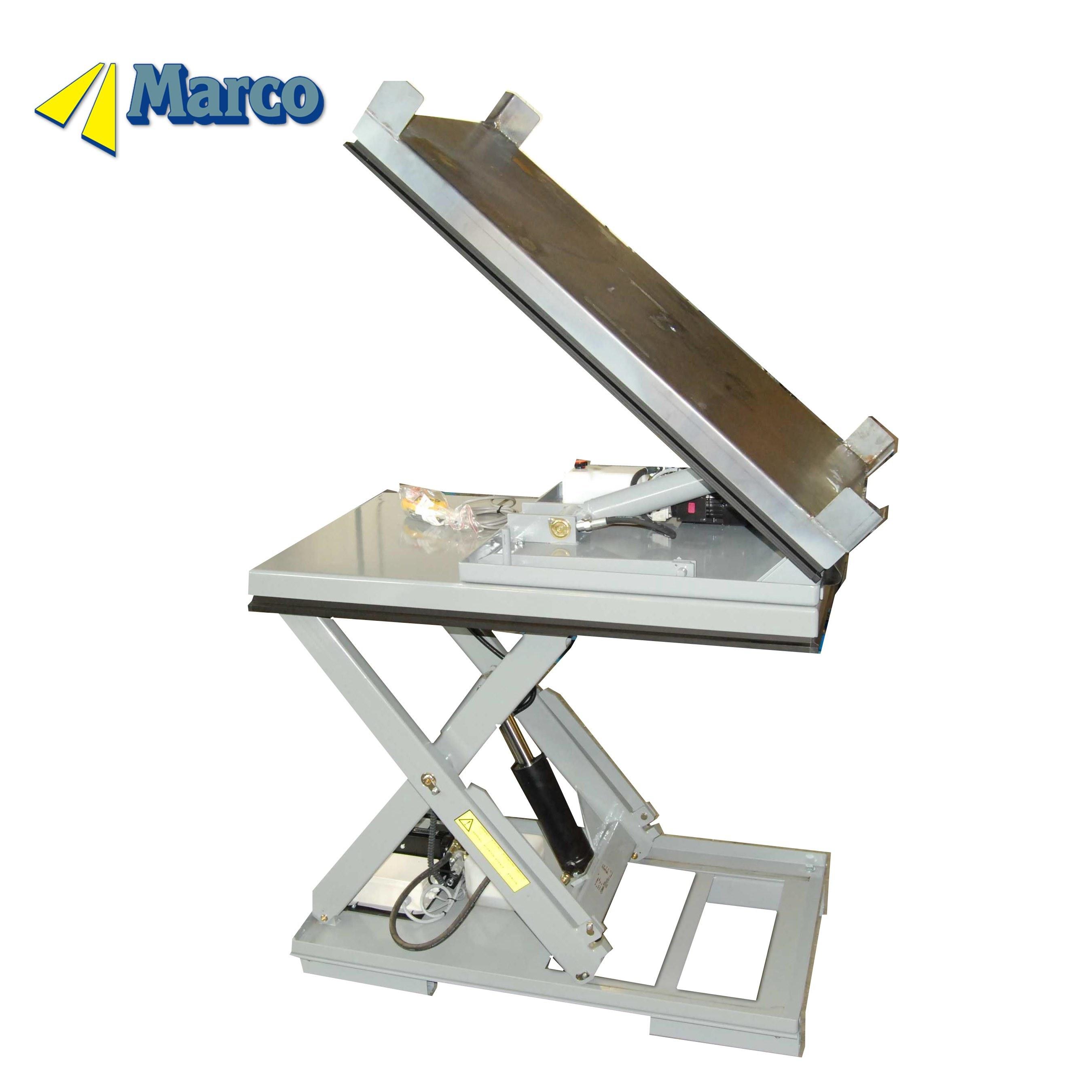 Marco Customsized 40 Degree Tilt Pallet Hydraulic Scissor Lift Table