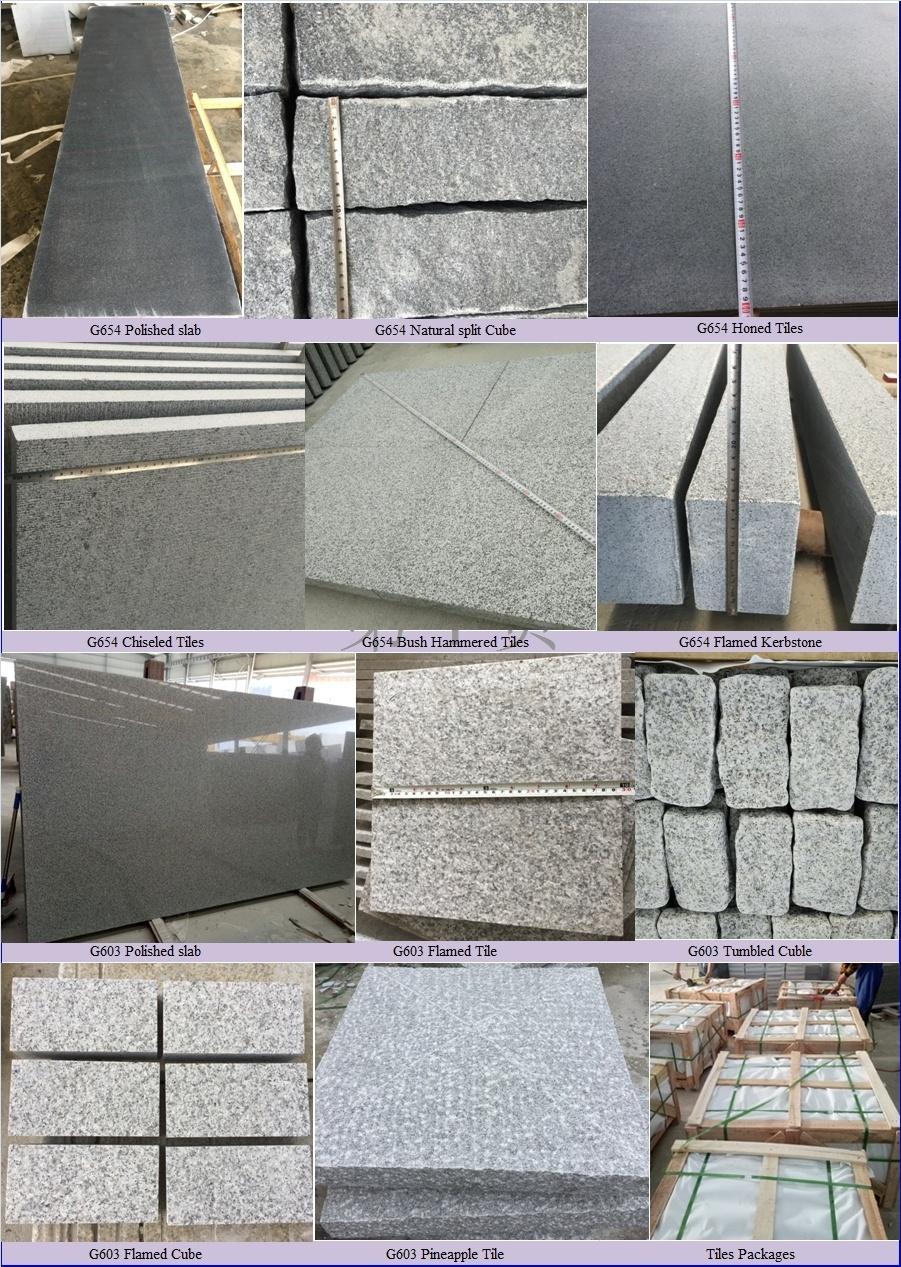 Cheap Polished G654 Padang Dark Black Granite for Countertops/Granite Slabs/Kerbstone/Paving Tile/Cobble