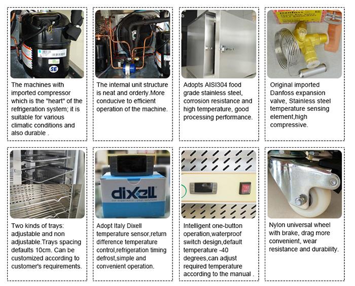 Haute capacit de 150l d 39 air blast cong lateur pour la - Capacite calorifique de l air ...