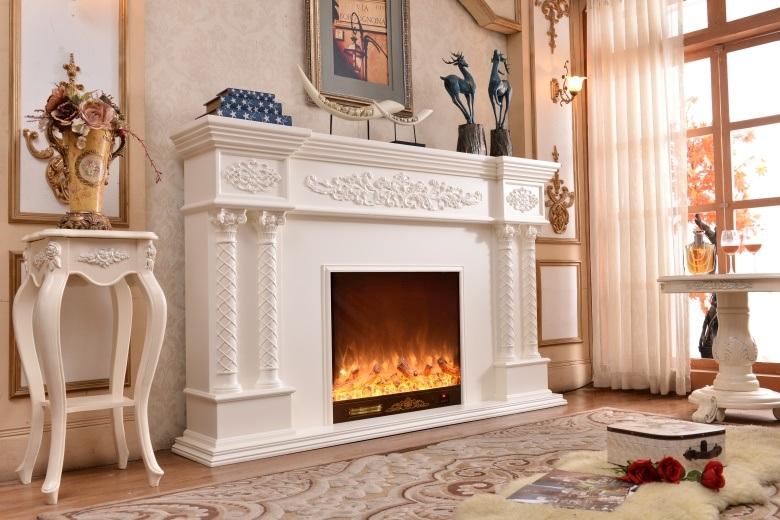 European Sculpture Led Lights Heating Electric Fireplace Freestanding Fireplace Mantel 320b China Fireplace Electric Fireplace Made In China Com
