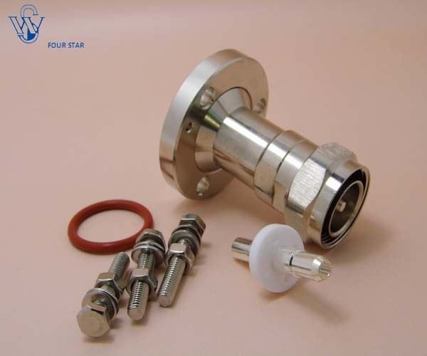 Quot eia flange connector to male din rf coaxial