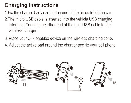 Car Holder Wireless Charger, Car Mount with Wireless Phone Charger, 3 Coils Free Position Fast Charging for Qi Enabled Mobile Phone with Cute Design (White)