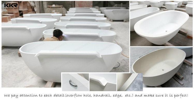 Vasca Da Bagno Freestanding Piccola : Vasca da bagno indipendente della piccola pietra ovale semplice