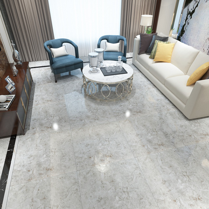 Chinese 24x24 Home Decorative Wholesale Grey Porcelanto Marble Floor