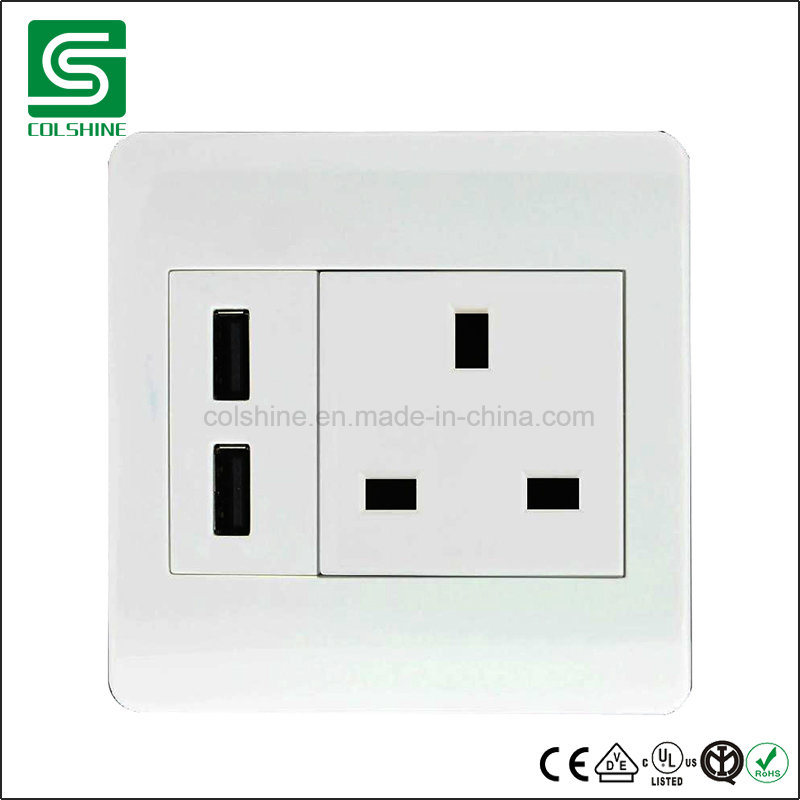 British Standard Electrical Wall Switch and Socket with USB Outlet ...