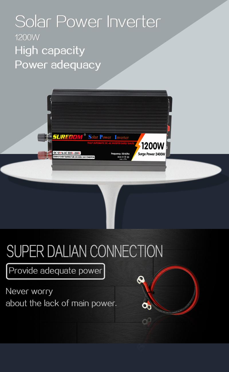 dc24v syst me solaire 1500kva 1200w de convertisseur de puissance hors r seau solaire dc24v. Black Bedroom Furniture Sets. Home Design Ideas