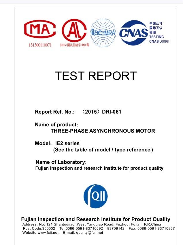 Ie2 Ye Saso2 Ie2 Informe de prueba del motor eléctrico trifásico ...