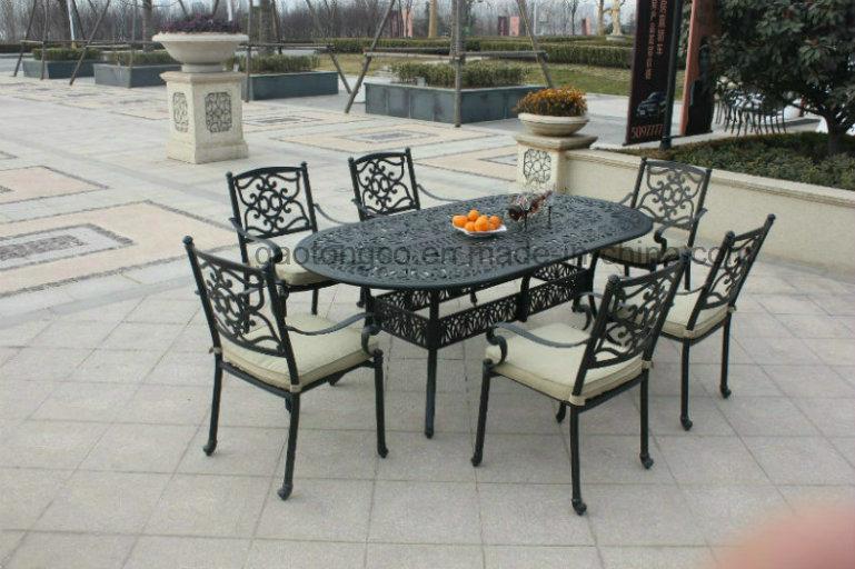 Reproducción de antiguos muebles de exterior de aluminio fundido de ...