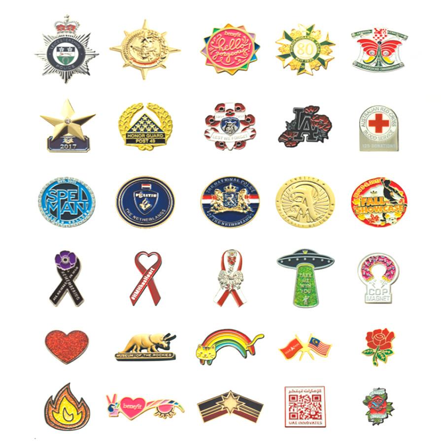 Manufacturer Whosale Custom Made Maple Leaf Badges