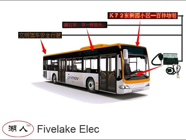 1-Line Moving Message LED Destination Display