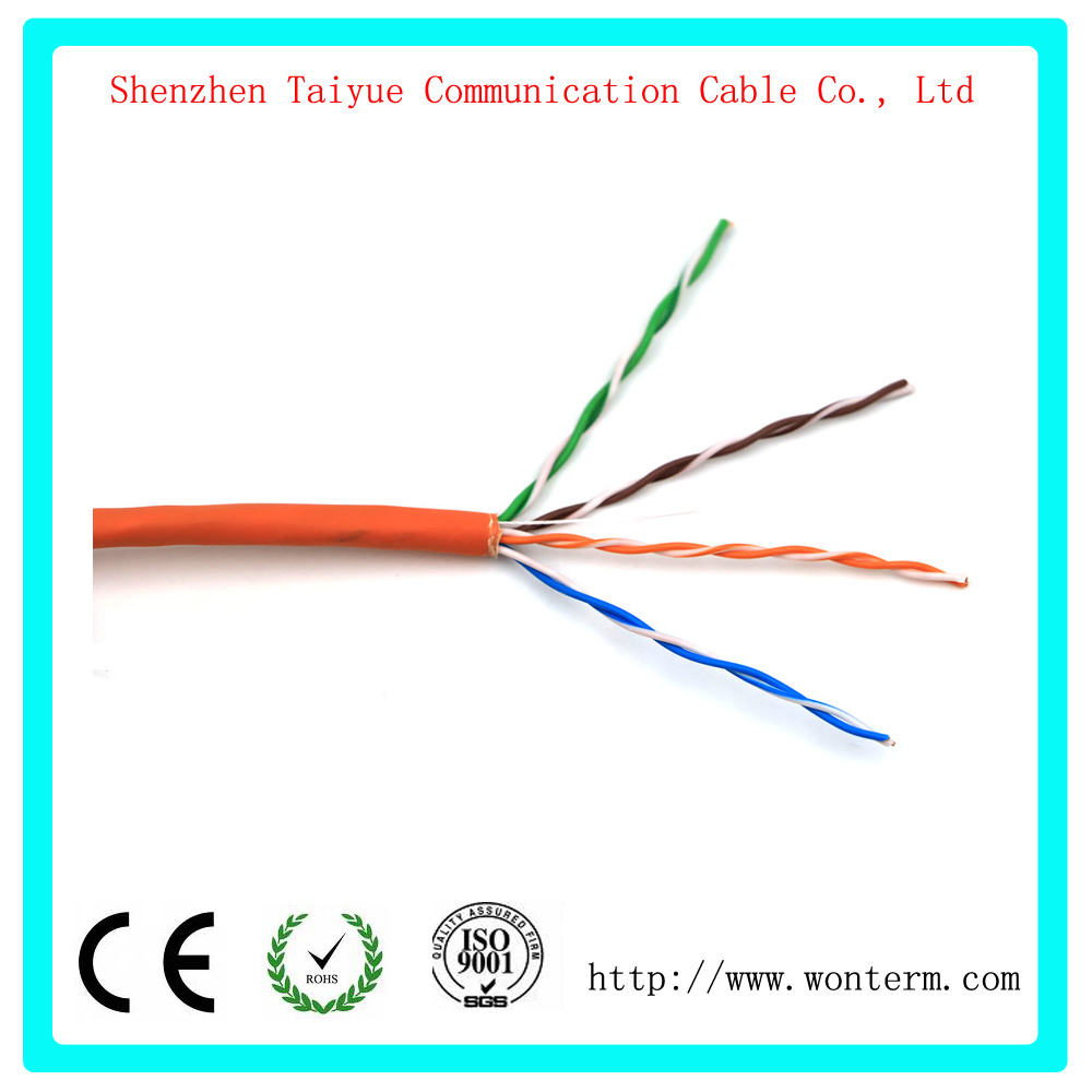 Cat5e Lan Cable With 350 Mhz Utp 24awg 8c Solid Bare Copper Fluke Electrical Wire And 10