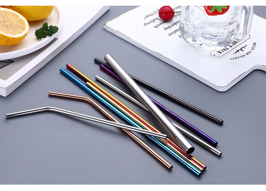 Cheap Stainless Steel Metal Party Straws Drinking Cocktail Straws