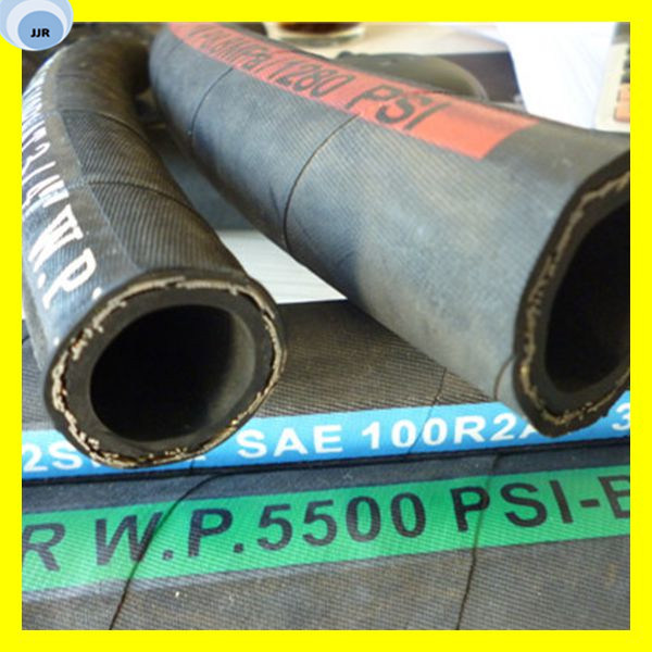 Steel Wire Braid Flexible Rubber Hydraulic Hose - China Rubber ...