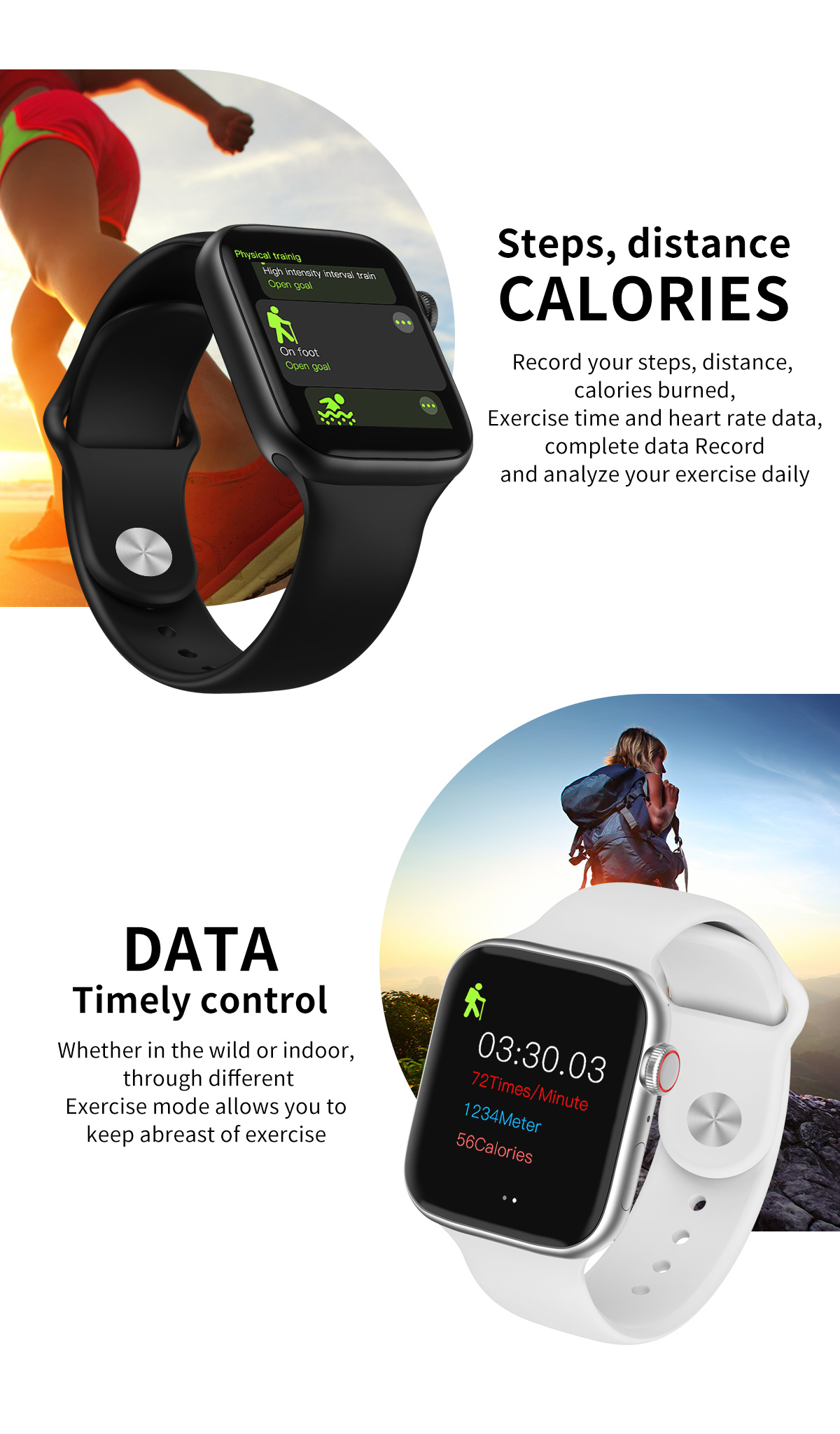 Good Waterproof IP67 Full Touch Screen Smartwatch