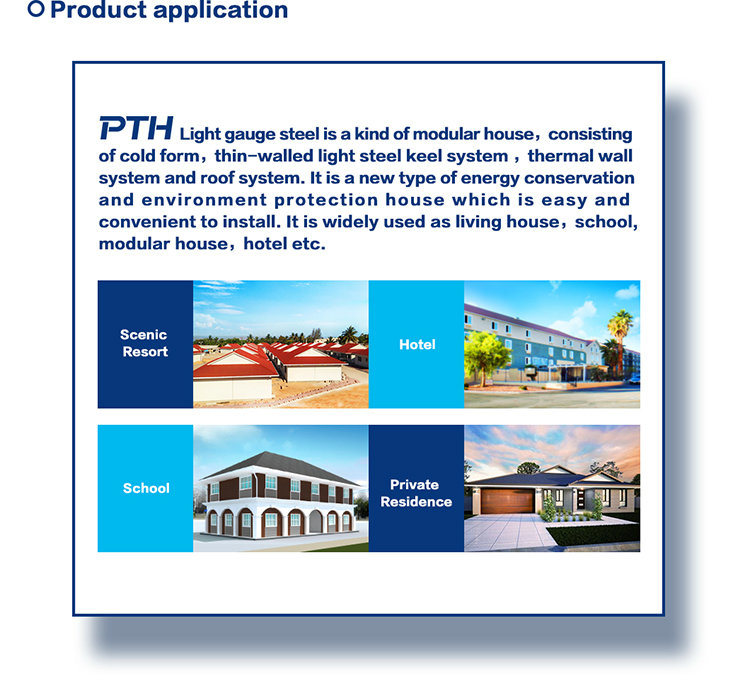 Prefabricated Light Steel Villa House Building as Modular Home Project