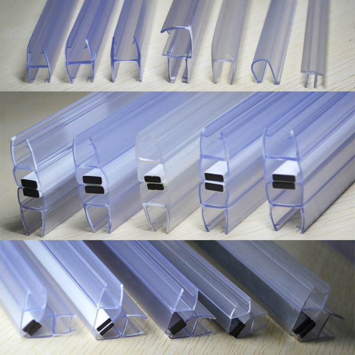 Pvc Plastic Pe Clear Silicone Rubber Round Shower Door Bottom Seal