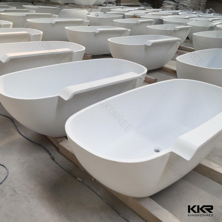 High Modern White Solid Surface Stone Modern Bath Tub Price China - Bathroom tub price