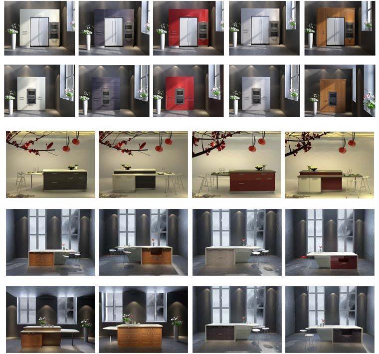 DIY Laca Vermelha E Branca Armário De Cozinha Modular