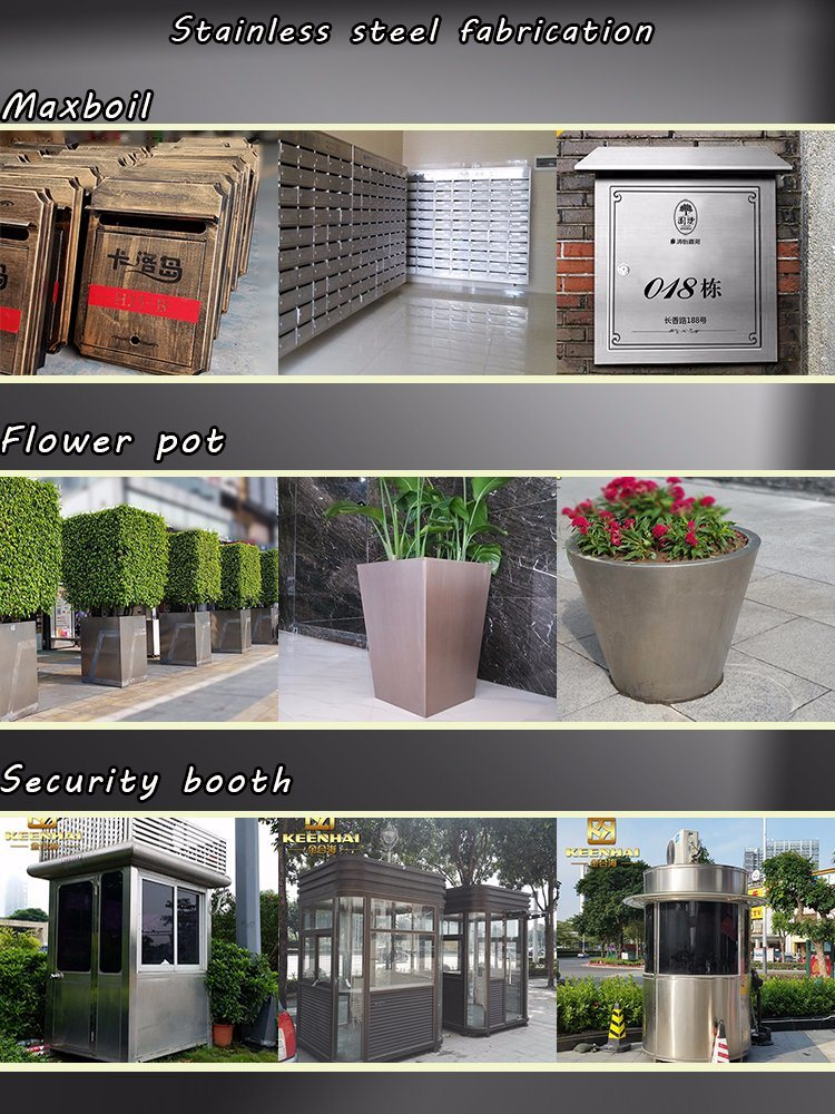 Stainless Steel Half Round Planter Flower Pots China Garden