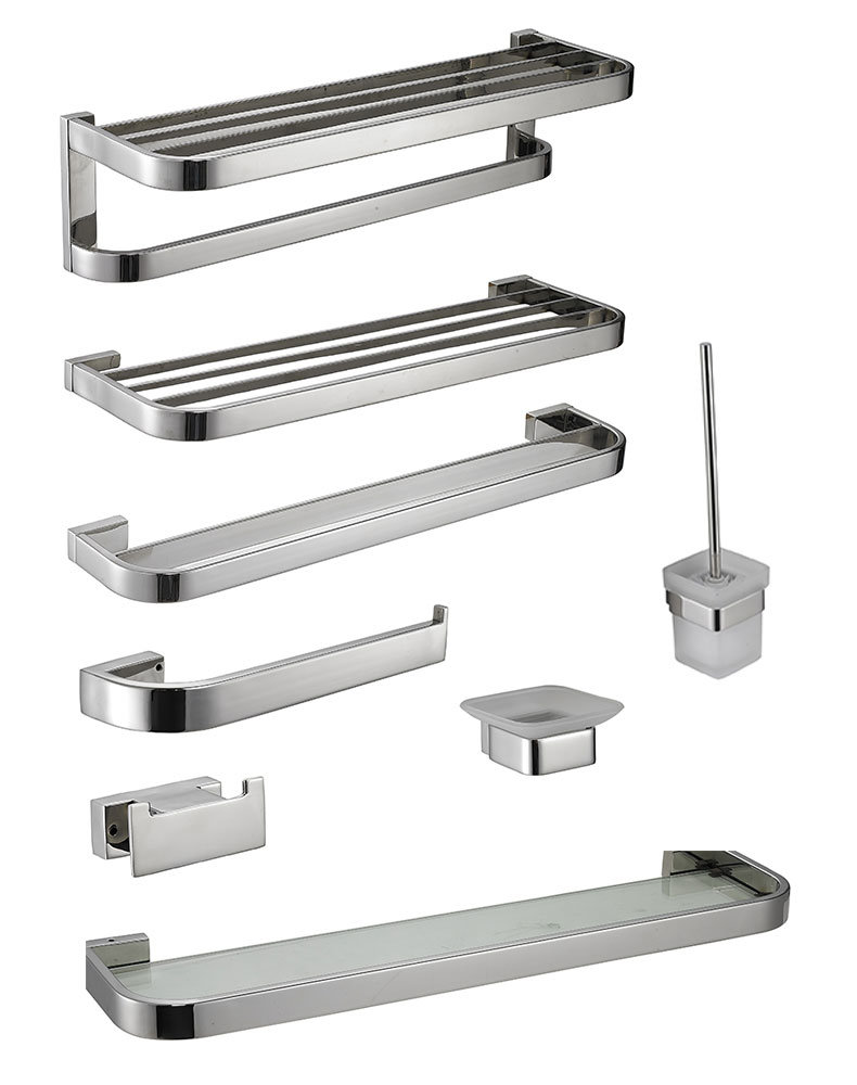High Quality Stainless Steel 304 Sqaure Bathroom Accessories Single ...
